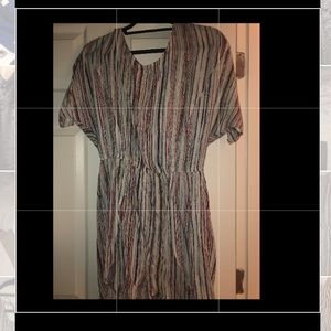 Bcbg romper with multicolored stripes
